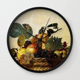 "Michelangelo Merisi da Caravaggio ""Basket of Fruit"" Wall Clock"