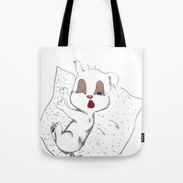 Sleepy Puppy Tote Bag