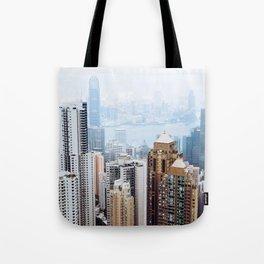 Hong Kong Skyline View from Victoria Peak Tote Bag