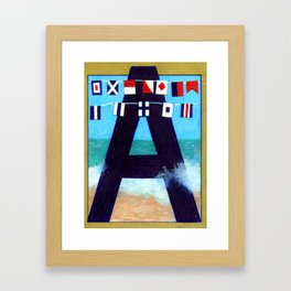 A is for Admiral Framed Art Print