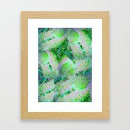 Green Gemstone Framed Art Print
