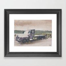The Work Truck Framed Art Print