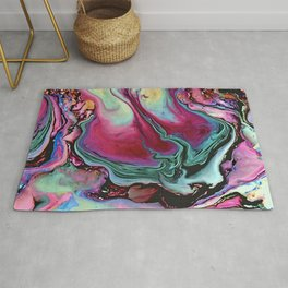 Colorful abstract marbling Rug