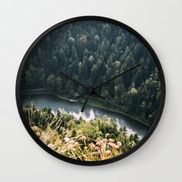 Aerial Forest River | Mountain Stream Wall Clock