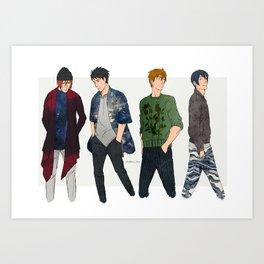 Fashion is cool Art Print