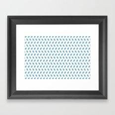 rhombus bomb in dusk blue Framed Art Print