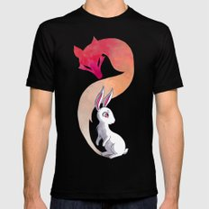 Rabbit and a Fox Mens Fitted Tee Black MEDIUM