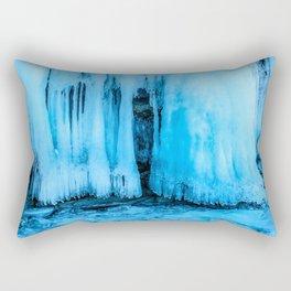 Ice curtain of the lake Baikal Rectangular Pillow