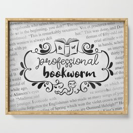 Professional Bookworm Paper Serving Tray