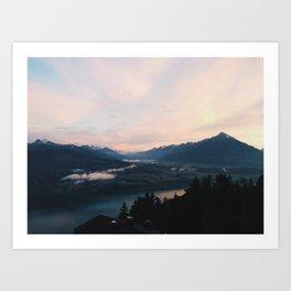 Top of Beatenburg, Switzerland Art Print