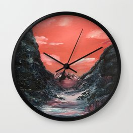 Reflections of a valley Wall Clock