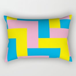 An easy one. Arrow heads...Graphical arrow heads in children colors. Rectangular Pillow