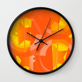 hoe is afraid of orange and yellow Wall Clock