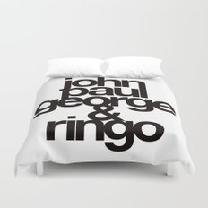 The Fab Four Duvet Cover