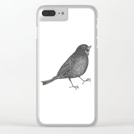 mr screamy the bird yells at the top of his lungs Clear iPhone Case