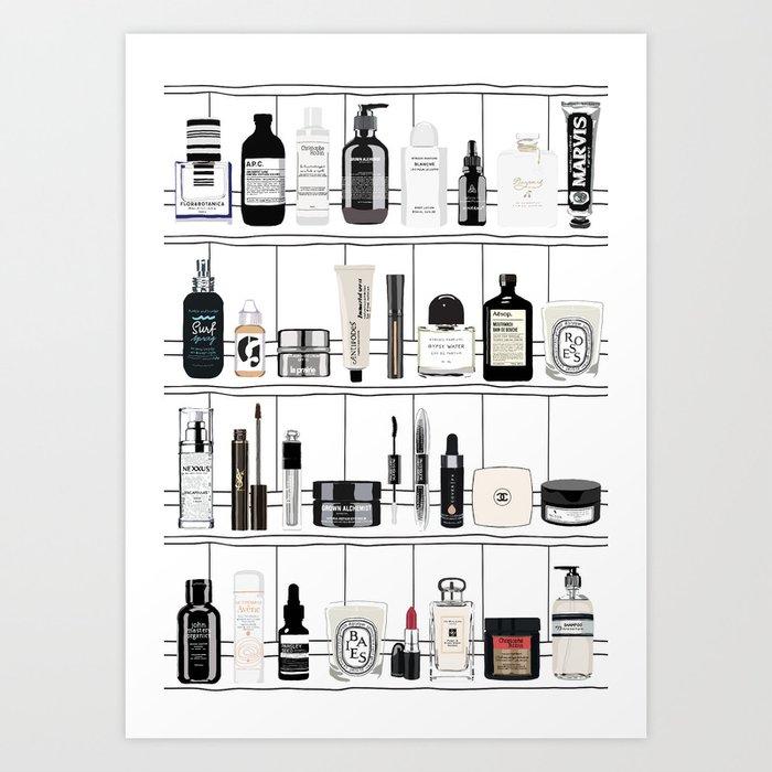 The Black & White shelf Art Print