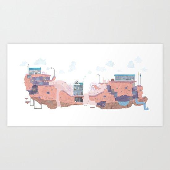 Lifescape Art Print