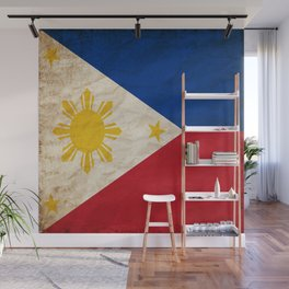 Philippines Flag Grunge Vintage Gift Idea Wall Mural