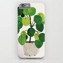 Pilea Peperomioides interior plant iPhone Case
