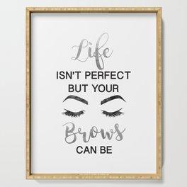 Silver, make up, Makeup, Brows, Eyebrows, Vanity, make up print, make up quote,Eyeliner, Lashes, Serving Tray