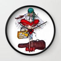 gypsy Wall Clocks featuring Gypsy by Natalie Easton