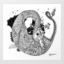 Phoebe, Dragon Queen of the South Seas Art Print