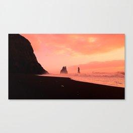 Black Sand Twilight Canvas Print
