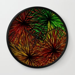 Anemones Aflame Wall Clock