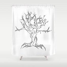 """ Halloween Collection "" - Creepy Tree Shower Curtain"