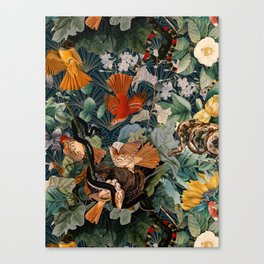 Birds and snakes Canvas Print
