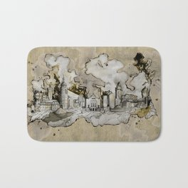 Cottbus Monument Skyline Illustration by carographic, Carolyn Mielke Bath Mat