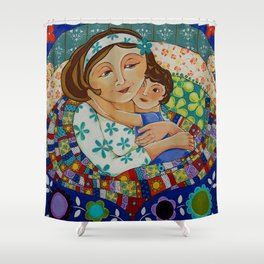 """Me, My Son And An Old Blanket"" Shower Curtain"