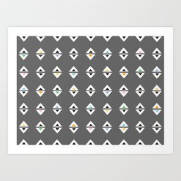 ALWAYS TRIANGLES Art Print