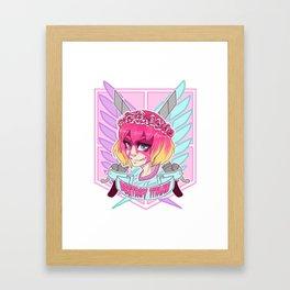 DESTROY TITANS Framed Art Print