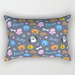 Doggie Pattern Rectangular Pillow