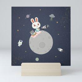 Picnic on the Moon Mini Art Print