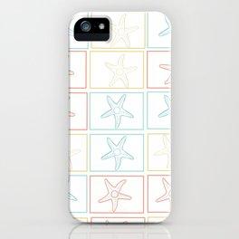Starfish large multicolor beach print iPhone Case