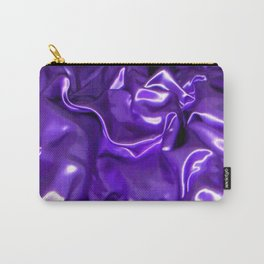 Ultra Violet Satin Material Carry-All Pouch