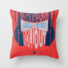 Roll Out Throw Pillow
