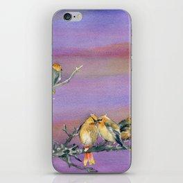 Bohemian Waxwings Birds iPhone Skin