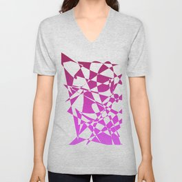 geometical pink abstract shapes Unisex V-Neck