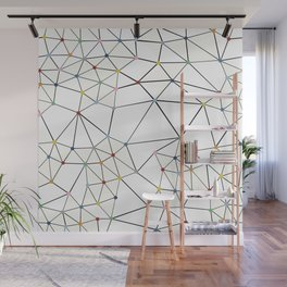 Seg with Color Spots White Wall Mural