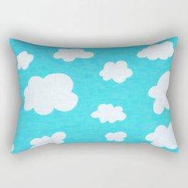Happy Little Clouds Rectangular Pillow