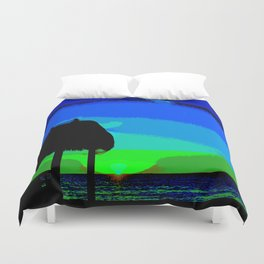 Florida Keys Sunset PA Duvet Cover