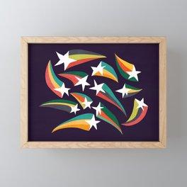 Shooting star Framed Mini Art Print