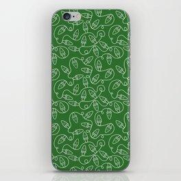 Seamless Christmas Lights (Green) iPhone Skin