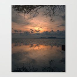 Sunset on the Gulf of Thailand Canvas Print