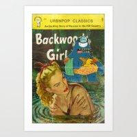 Byron and Backwoods girls Art Print