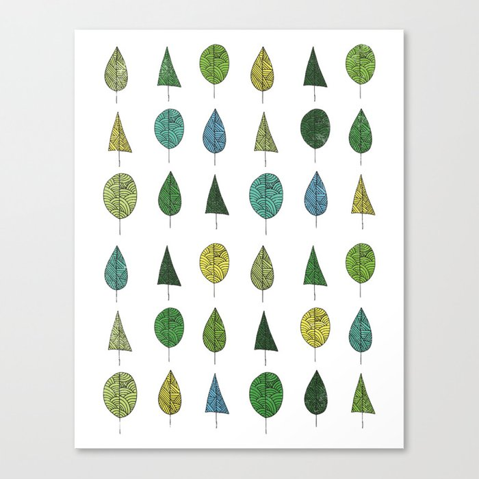 TREES MAKE A FOREST Canvas Print