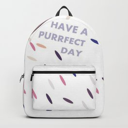 have a purrfect day (with cat) Backpack